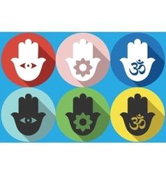 Hamsa symbol Icon vector image