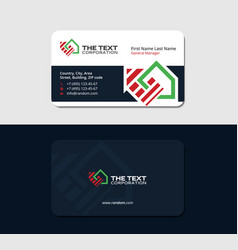 home improvement business card design template vector image