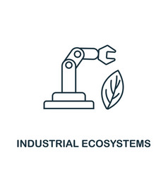 industrial ecosystems icon thin line style vector image