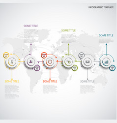 Info graphic with abstract round white pointers vector
