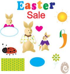 Kids easter sale kit vector