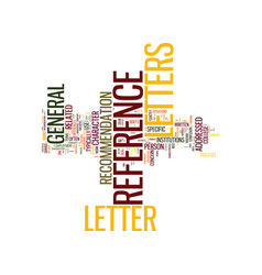 Letters of reference defined text background word vector