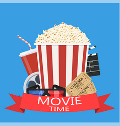 movie poster template vector image vector image