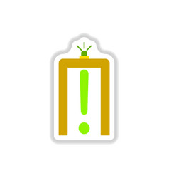 Paper sticker on white background airport scanner vector