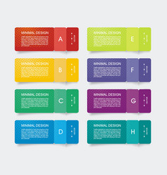 paper tags with bent corners can be used vector image