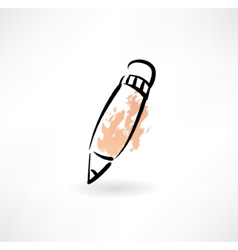 Pencil grunge icon vector