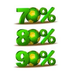 Percent discount icon vector image