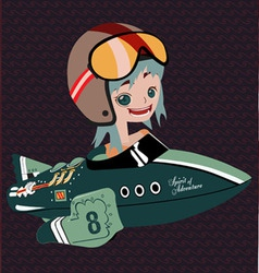 Rocket Girl vector