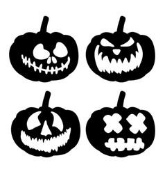 scary pumpkin face symbol icon design vector image