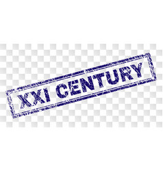 Scratched xxi century rectangle stamp vector