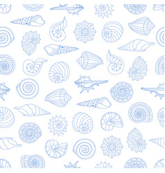 Seamless pattern with small seashells vector