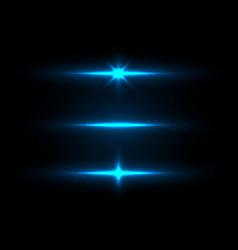 Set blue lighting glowing shining sparkling vector