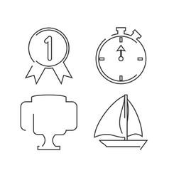 Set flat icon tools sport vector