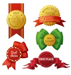 Set of badges and labels isolated on white vector image