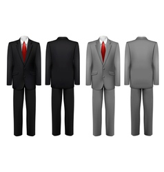 Set of black and grey suits vector