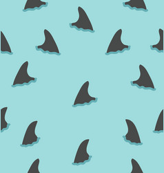 shark fin pattern vector image
