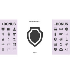 shield - protection icon - graphic elements for vector image