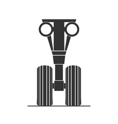 Silhouette of front landing gear vector