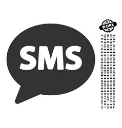 Sms icon with job bonus vector