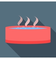 Spa or hot tub icon flat style vector