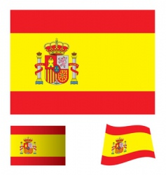 Spain flag set vector image