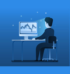 stock exchange trading forex finance graphic vector image