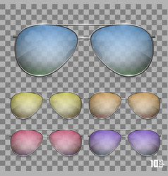 Sunglasses color object vector