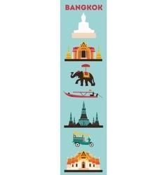 Symbols of Bangkok city vector image