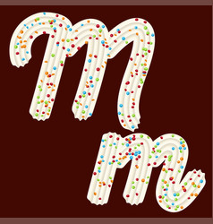 Tempting tipography font design 3d letter m of vector