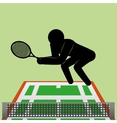 Tennis design Sport icon Isolated vector image