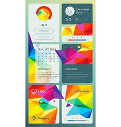 ui is a set components featuring flat design vector image
