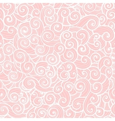 Whorl doodle pattern pink vector
