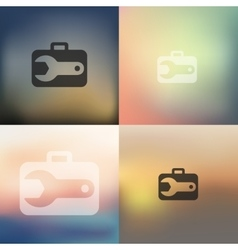 Wrench icon on blurred background vector