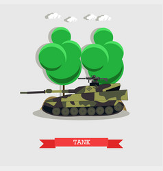 armored tank military vector image