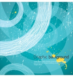 blue graphic background vector image vector image