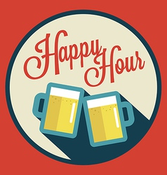 happy hour with beer vector image