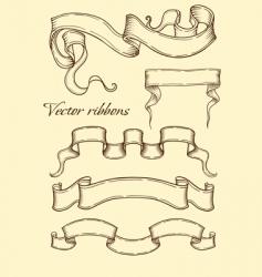 ribbon in retro style vector image