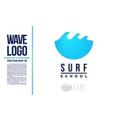 Surf logo wave logotype blue vector