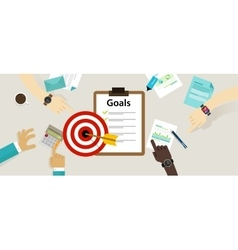 target goals icon success business strategy vector image