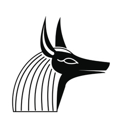 Anubis head icon simple style vector image vector image