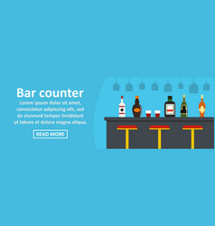 bar counter banner horizontal concept vector image