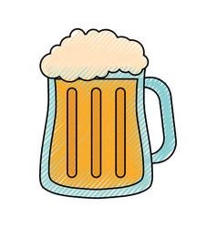 beer glass design vector image