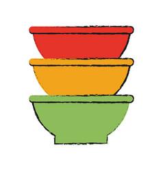 bowls vector image vector image