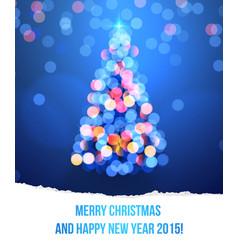 card with Christmas tree lights vector image