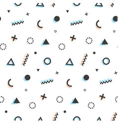geometric seamless pattern background memphis art vector image