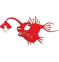 Monk fish Cartoon Character vector image vector image