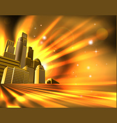 orange skyscraper background vector image