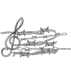 prison music vector image vector image