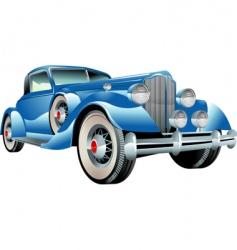 retro car vector image