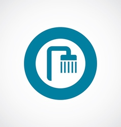 shower icon bold blue circle border vector image